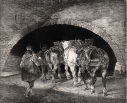 Théodore Géricault - Entrance to the Adelphi Wharf – 1821 - Lithographie