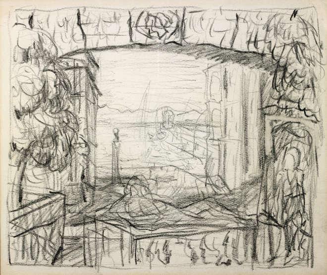 Pierre Bonnard - Esquisse pour Méditerranée ou monuments