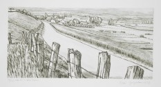 André Jacquemin - Route sur la colline inspirée - 1973 - Eau-forte