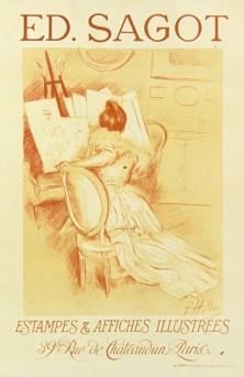 Paul Helleu - Ed Sagot Estampes et affiches illustrees - 39 bis rue de Châteaudun - 1900