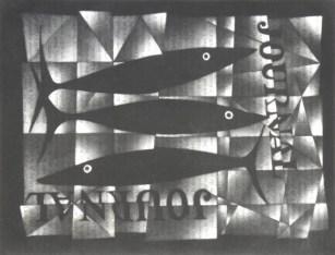 Mario Avati - Trois poissons sur un journal