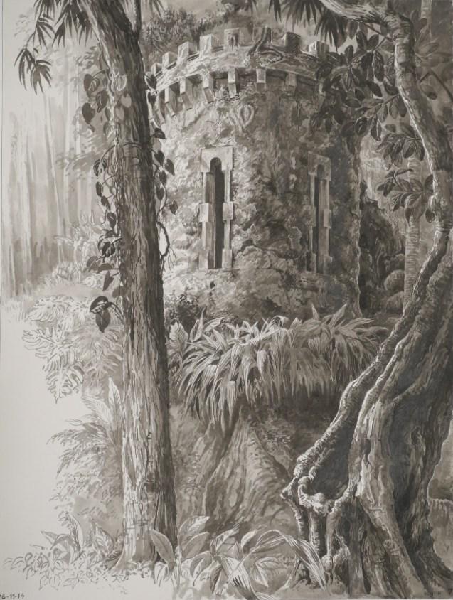 François Houtin - Rio - étude n°7 - La tour du Parque Lage