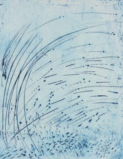 Annie Warnier, Spirale, 1992, Gravure sur plomb, 518 x 399 mm