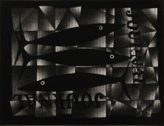 Mario Avati - 3 poissons sur un journal
