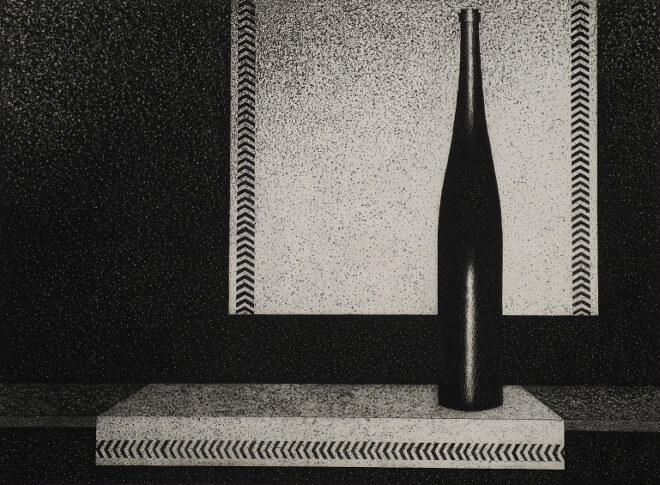 Mario Avati - La bouteille de vin d'Alsace
