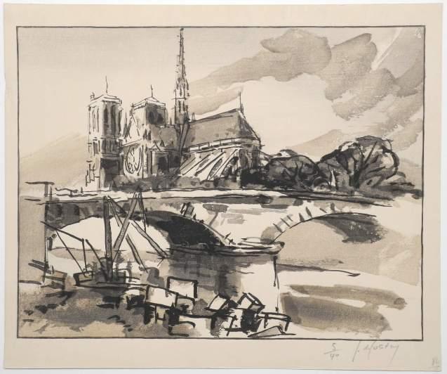 Germaine de Coster - Notre Dame de Paris - Recto