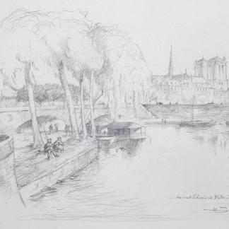 Henry Deville - Le pont Saint Louis et Notre Dame, Paris
