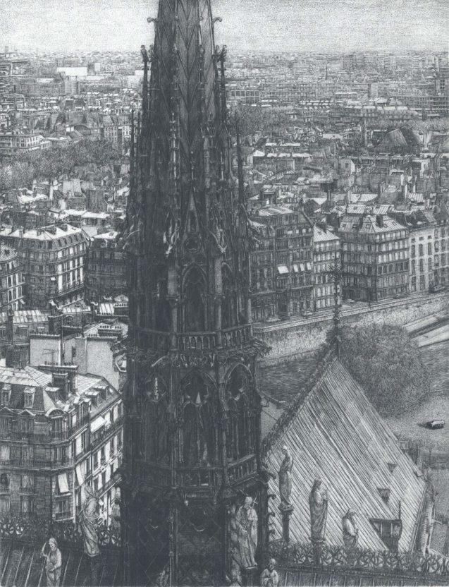 Takuji Kubo - Notre Dame, the spire (la flèche)