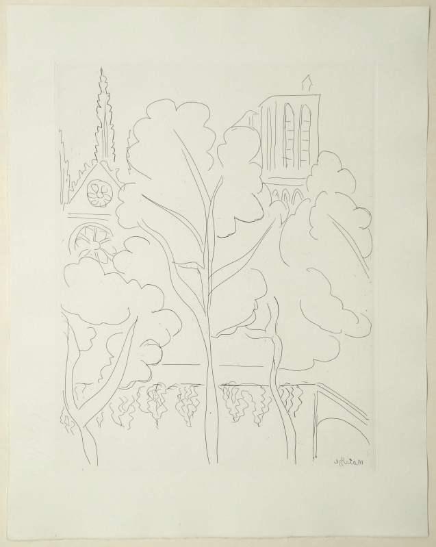 Henri Matisse - La Cité – Notre Dame - Recto