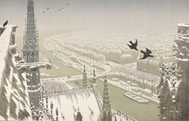 Henri Rivière - Du haut des tours Notre Dame - Édition de tête