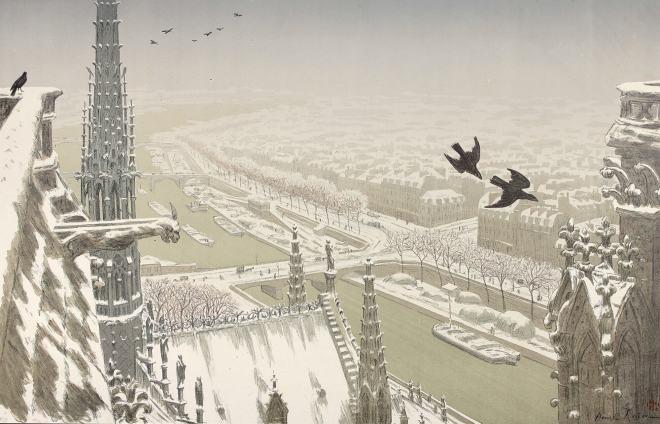 Henri Rivière - Du haut des tours Notre Dame