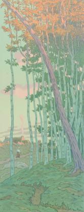 Henri Rivière - Les derniers rayons - La féerie des heures planche XVI
