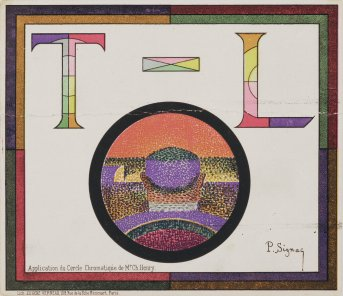 Paul Signac - Application du Cercle Chromatique de Mr Ch. Henry - Programme pour le Théâtre Libre