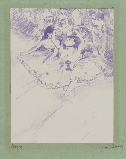 Georges William Thornley - Quinze lithographies d'après Degas - planche 1 signée