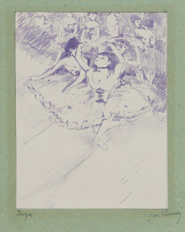 Georges William Thornley - Quinze lithographies d'après Degas - planche 1 signée