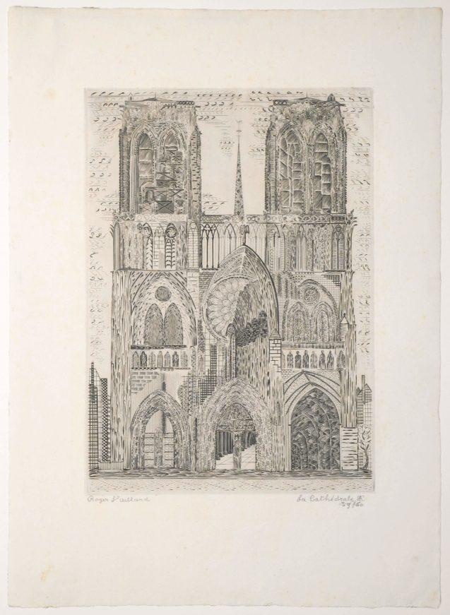 Roger Vieillard - La cathédrale - Recto