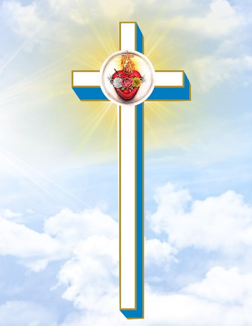 Cruz Gloriosa dos Sagrados Corações Unidos