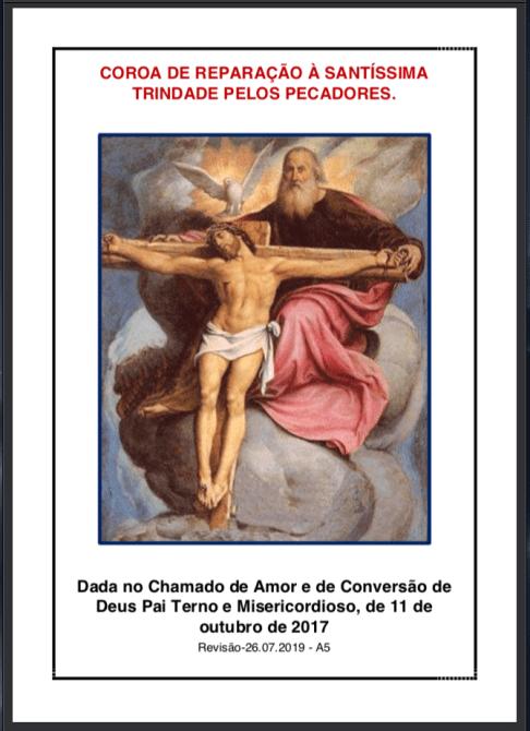 Coroa de Reparação à Santíssima Trindade pelos pecadores - Revisão 26.07.2019 -  A4