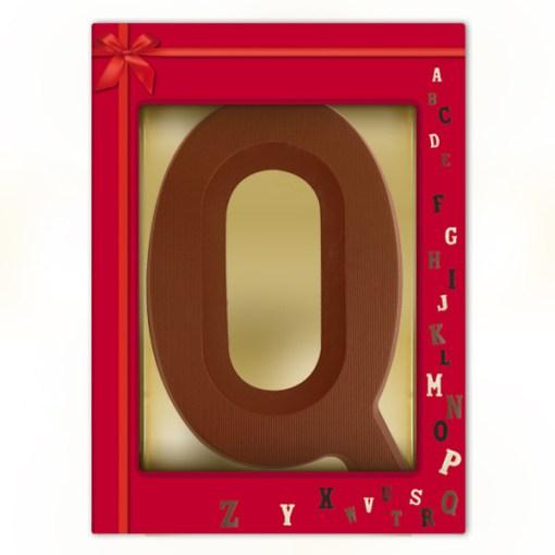 Schoko-Großbuchstabe Q