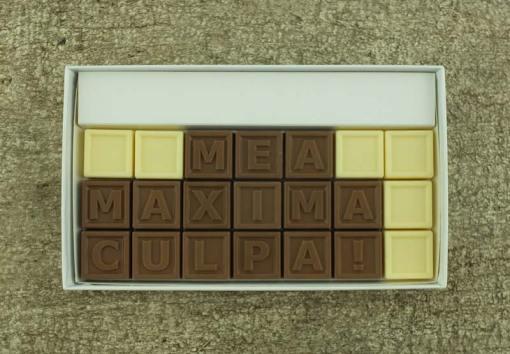 21er-Schoko-SMS - Mea maxima culpa!