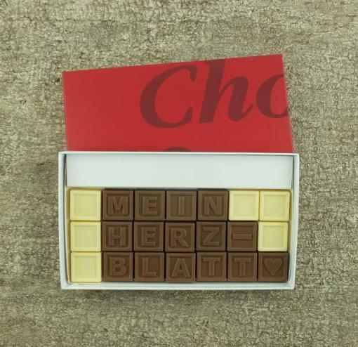 21er-Schoko-SMS - Mein Herzblatt