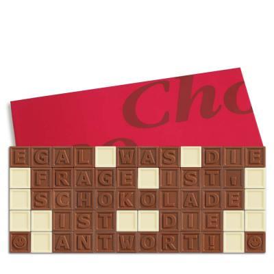 60er-Schoko-SMS – Egal was die Frage ist Schokolade ist die Antwort!