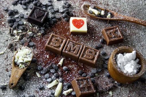 60er Schoko-SMS - Egal was die Frage ist Schokolade ist die Antwort!