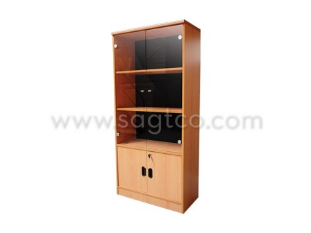 ofd_nova_sf--151--office_furniture_office_system_furniture--be_841_glass_door_bookshelf_cabinet_beige