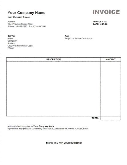 Contoh Invoice Penjualan