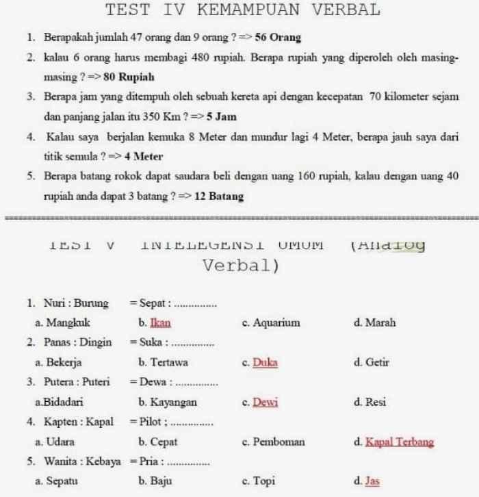 Contoh Soal Psikotes Dan Jawabannya Pdf Free Download Sexyseven