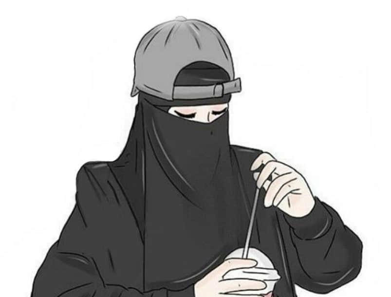 Mewarnai Gambar Sketsa Wanita Muslimah Bercadar Terbaru Kataucap