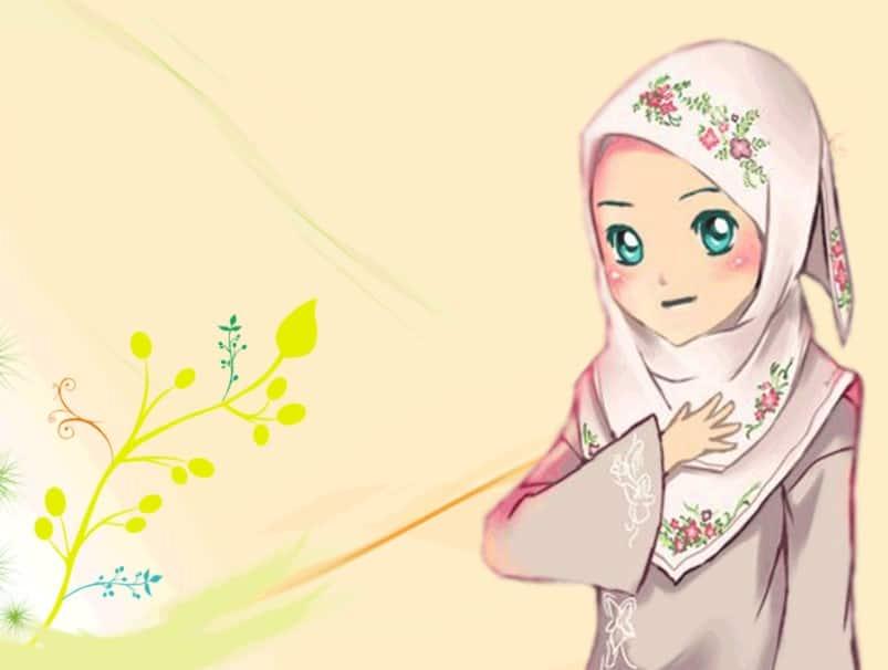 Kumpulan gambar kartun muslimah terbaru dengan kualitas hd. gambar kartun muslimah bercadar syari