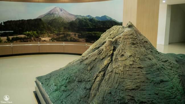 Diorama di Museum Gunung Merapi