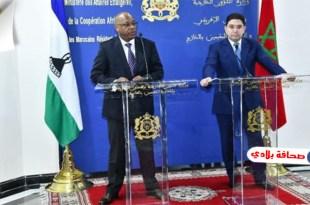 مملكة ليسوتو تقرر تعليق جميع القرارات والتصريحات السابقة المتعلقة بالصحراء المغربية