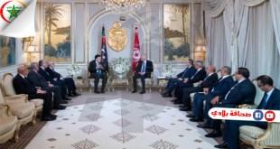 """لقاء السراج بسعيد : """"تنقل الأشخاص والسلع وملف الأطفال التونسيين المحتجزين في ليبيا"""" أبرز العناوين"""