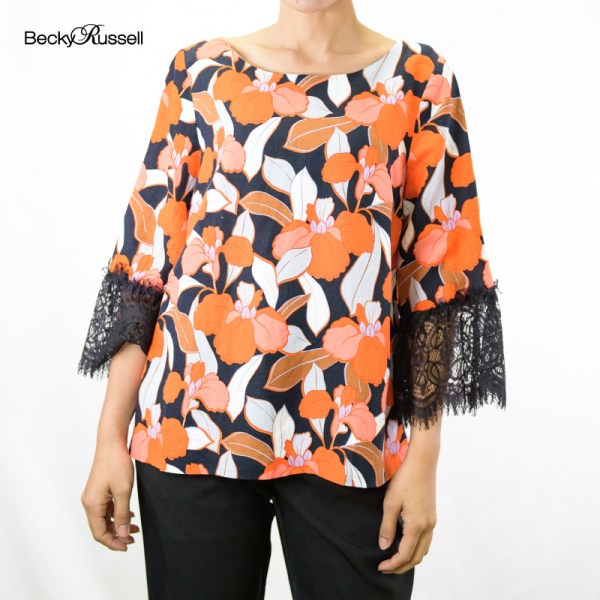 Becky Russell Becky Russell FLORAL IMPACT ELEGANT BLOUSE PRB300