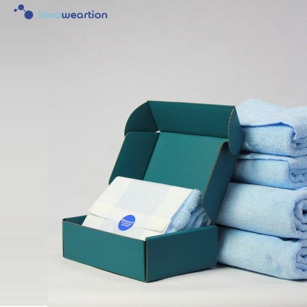 "Innoweartion innoweartion ผ้าขนหนูนาโนซิงค์ สีฟ้า ขนาด 27"" X 54"" ลดกลิ่นอับ ยับยั้งแบคทีเรีย"