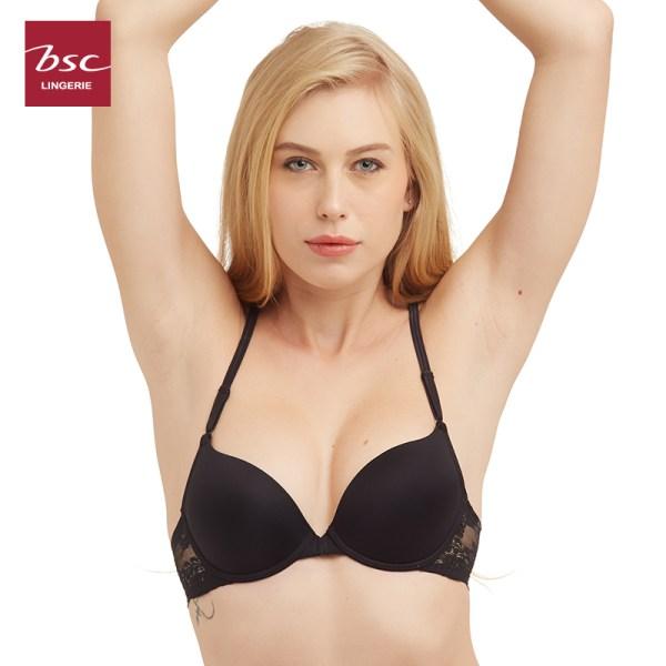 Bsc Lingerie BSC lingerie ชุดชั้นในบรา MOLD BRA บรารูปแบบมีโครงตะขอหน้า - BB6425