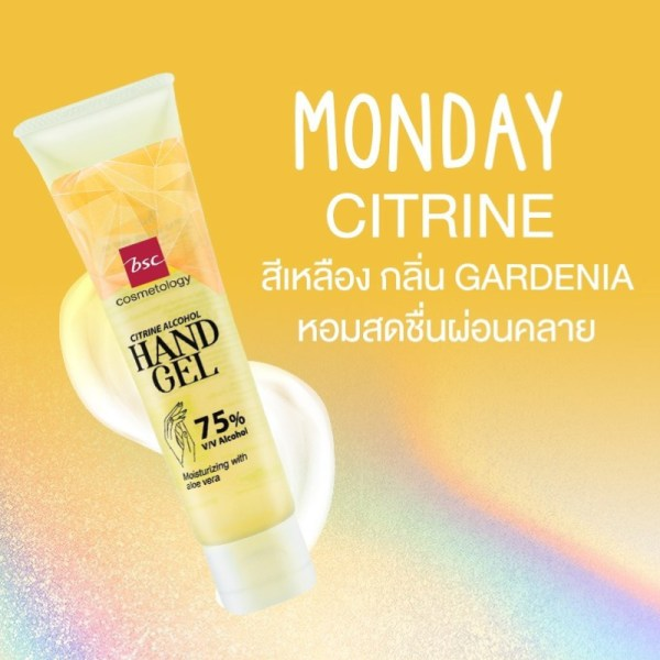 Bsc Cosmetology BSC COSMETOLOGY CITRINE ALCOHOL HAND GEL (1แถม1) Y1