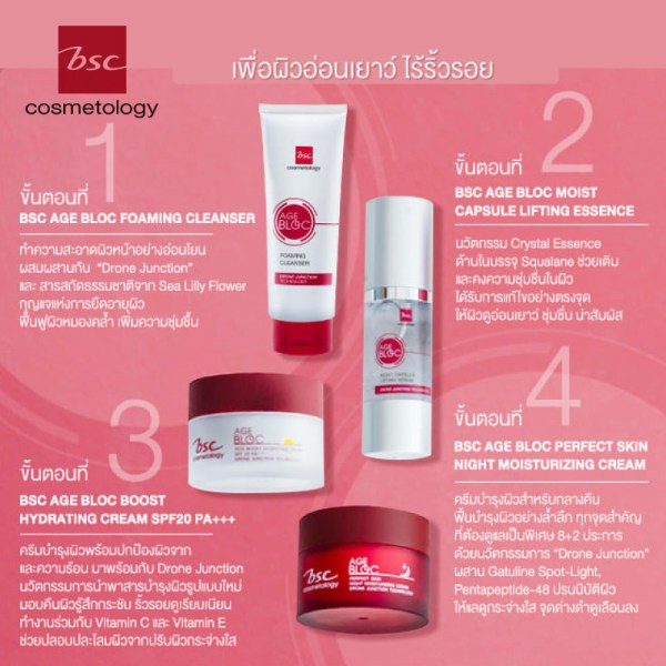 Bsc Cosmetology BSC COSMETOLOGY AGE BLOC BOOST HYDRATING CREAM SPF20 PA+++
