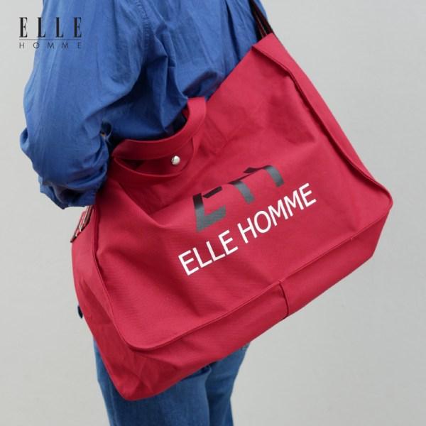 Elle Homme ELLE HOMME กระเป๋าสะพายผ้า Canvas (H8H364)