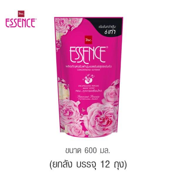 Essence Essence ผลิตภัณฑ์ปรับผ้านุ่มเอสเซ้นซ์สูตรเข้มข้น 6 เท่า กลิ่น INNOCENT FREESIA 600 มล. (1 ลัง บรรจุ 12 ชิ้น )