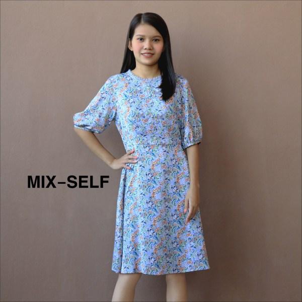 Mix-Self MIX-SELF เดรสพิมพ์ลายดอกไม้ รุ่น IS49828