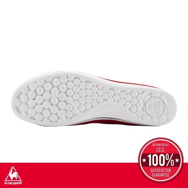 le coq sportif le coq sportif รองเท้าผู้หญิง รุ่น Teluna Smart Light สีแดง รองเท้าผ้าใบสีแดงท่าแบบผูกเชือก รองเท้าลำลอง