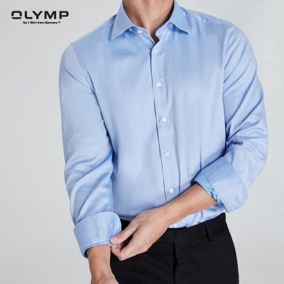 Olymp OLYMP เสื้อเชิ้ตแขนยาว ทรง Modern Fit สีฟ้า
