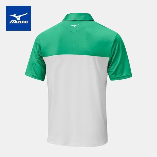 Mizuno golf Mizuno Golf เสื้อโปโลกอล์ฟ รุ่น QUICK DRY HORIZON สีเขียว-ขาว เสื้อโปโล เสื้อกอล์ฟ