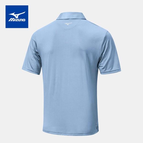 Mizuno golf Mizuno Golf เสื้อโปโลกอล์ฟ รุ่น QUICK DRY MIRAGE สีฟ้า-ขาว เสื้อโปโล เสื้อกอล์ฟ