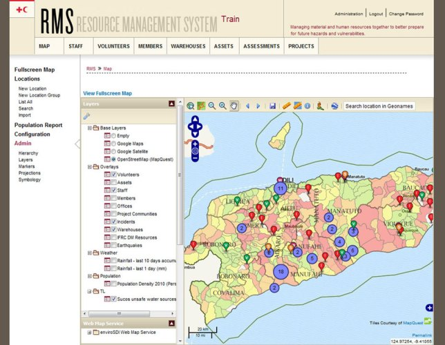 PROFILE: IFRC's Resource Management System (RMS) built with Sahana Eden