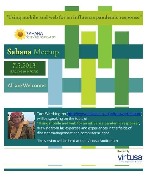 Sahana Meetup Flyer