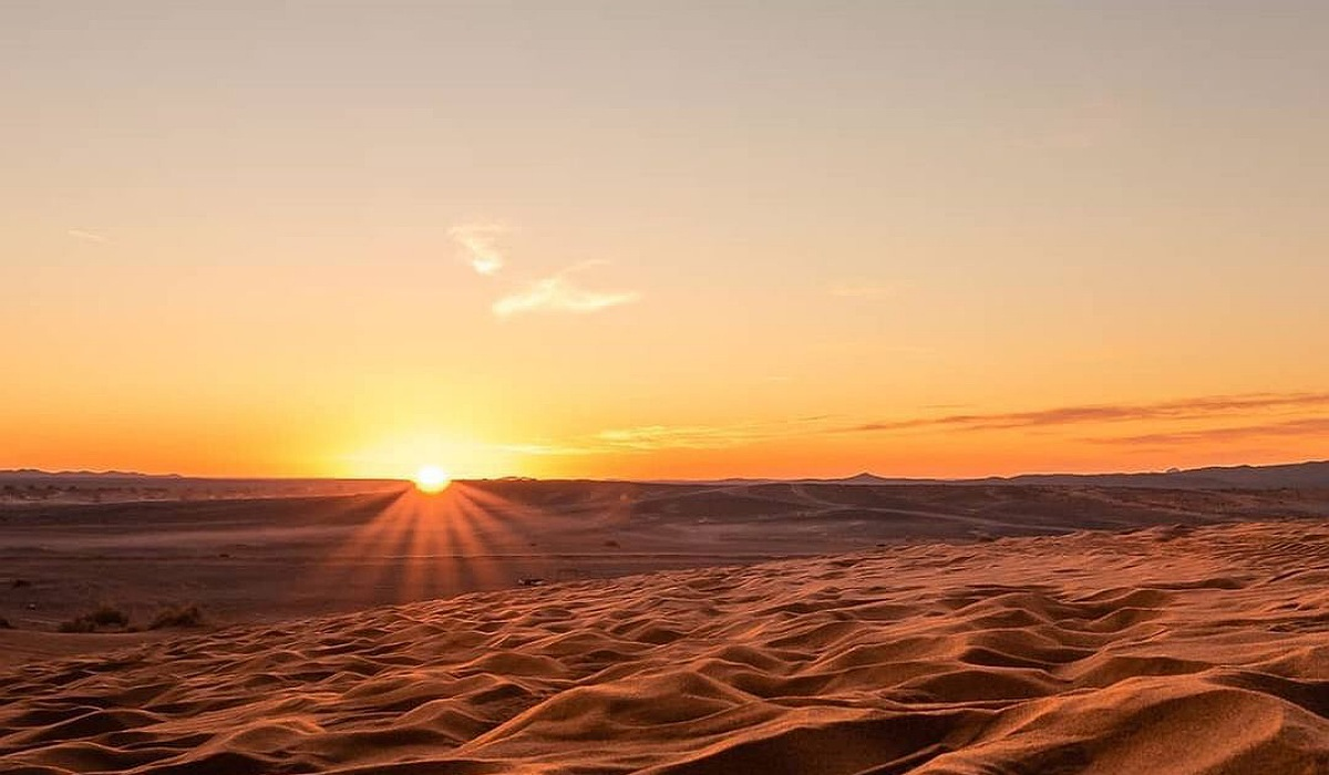 overnight in desert camp merzouga
